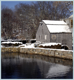 Click here to view a larger image of Morning at Dexters Grist Mill.